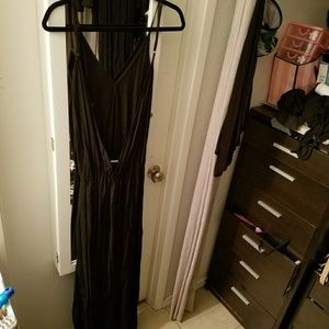 Ava Sky Open back maxi dress